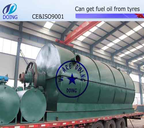 Doing waste tyre/tire pyrolysis plant