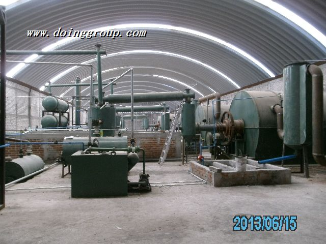 Mexico customer's tire pyrolysis machine  finished installing  and now runs wel...