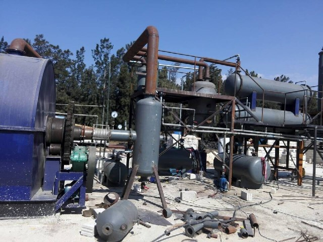 Used tyre pyrolysis machine is closed to finished in Middle-East