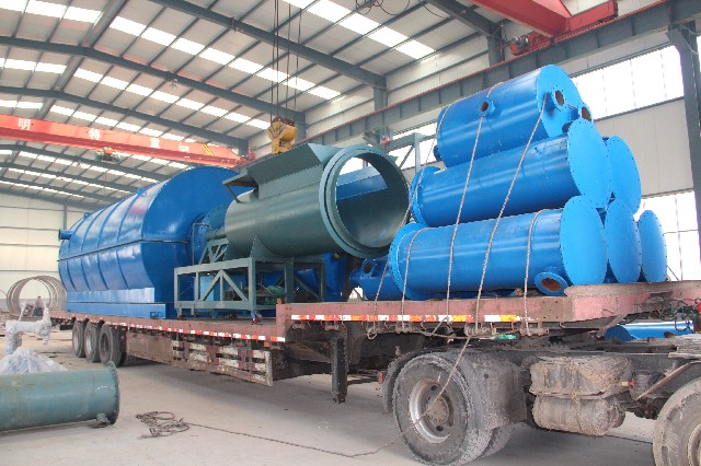 Waste tyre pyrolysis plant refining equipment