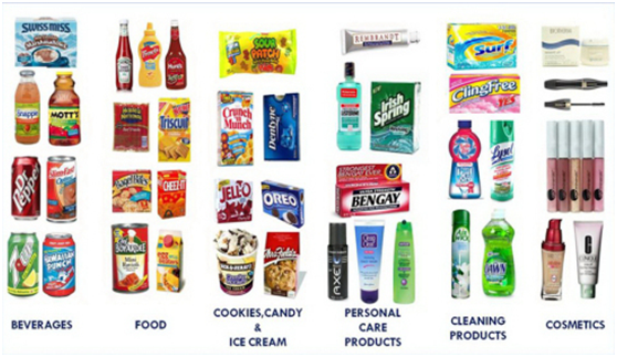 Products with palm oil