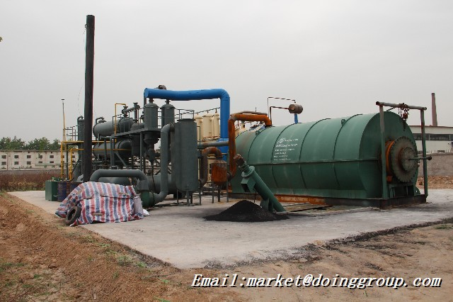 Eco-friendly waste tyre pyrolysis machine