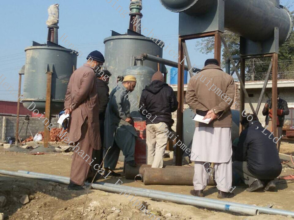Setup waste oil distillation equipment in Pakistan