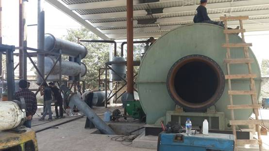 One tire recycling machine was installed in Mexico