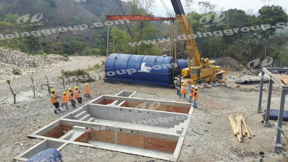 Installing pyrolysis machines in Guatemala