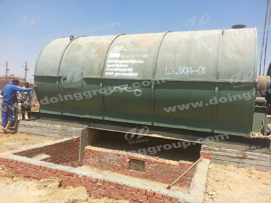 2 sets 10tons pyrolysis machines Installation Site in Egypt