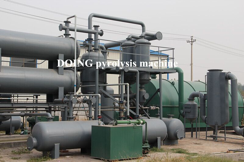 Tire/plastic prolysis machine for power generation
