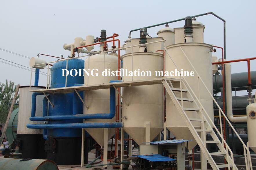 China Doing wste oil  distillation plant for recycling waste and crude oil to di...