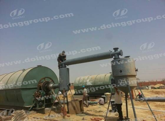 The pyrolysis plant Installation in Egypt