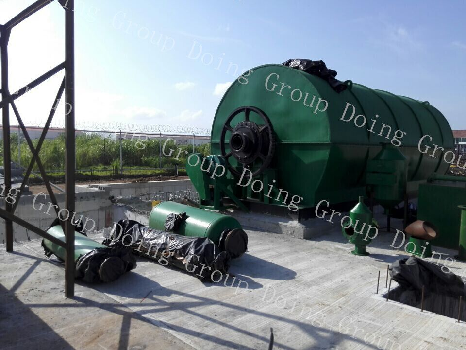 waste tire pyrolysis plant news on Panama installation