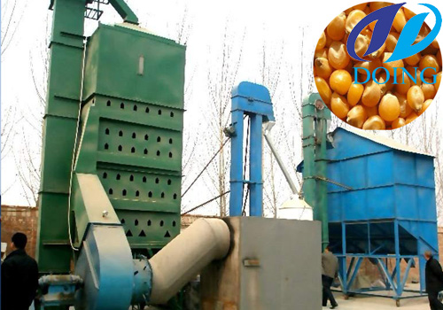 Tower corn drying machine with high efficiency