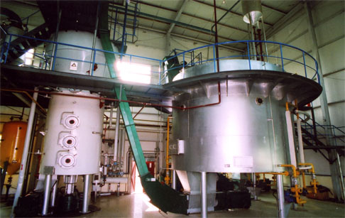 What is the solvent extraction process ?