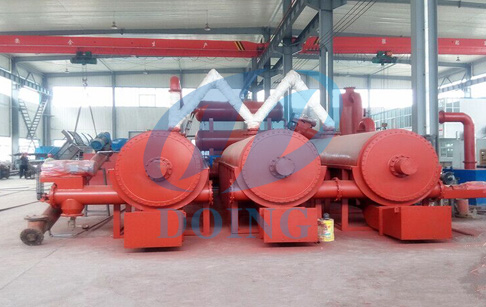 Fully automatic continuous tyre/plastic pyrolysis machine