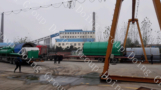 waste tyre pyrolysis recycling plant