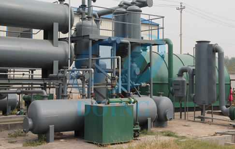 What is waste tyre/plastic pyrolysis machine?