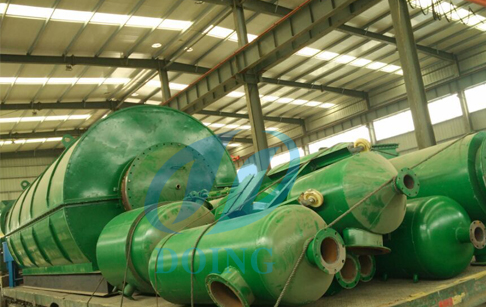 Pyrolysis  plants and oil distillation machine deliverred to Columbia