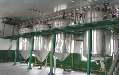What's the process of vegetable oil refining plant?