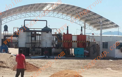 Which raw materials applicable of oil distillation machine?