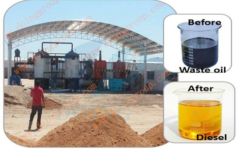 Customer from India will visit DOING for ordering waste oil distillation machine
