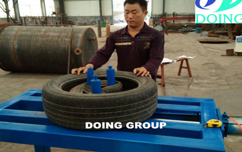 Tyre doubling machine for pyrolysis plant