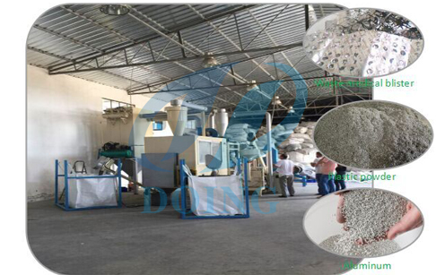Waste aluminum plastic composite panel recycling machine