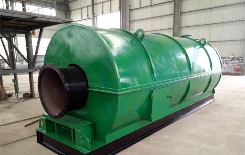 DOING 1Ton capacity waste tire oil refining machine is ready for delivery