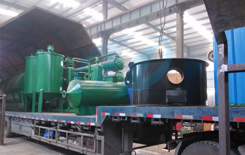 1TPD waste tire pyrolysis plant and waste oil distillation plant delivery