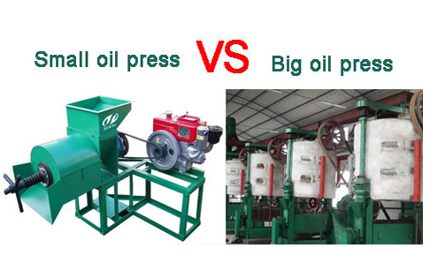 Small oil press and big oil press, which is better?