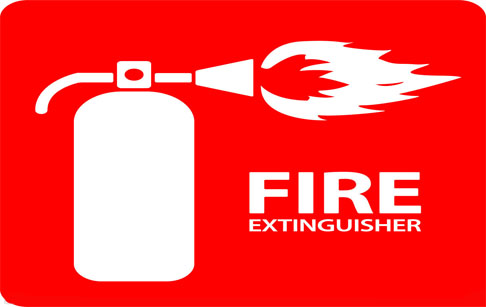 Fire protection around extraction machines
