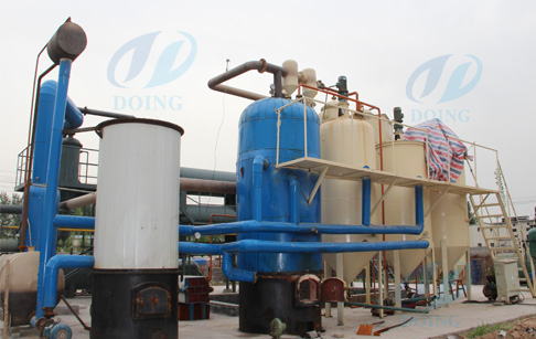 Used motor oil refinery processes running vedio