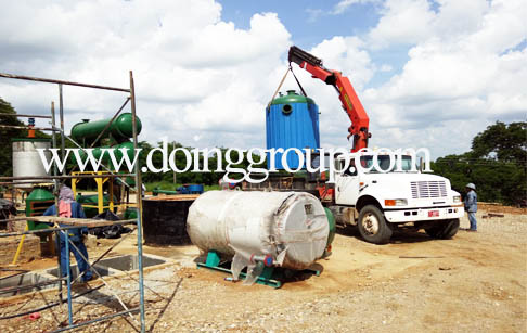 DOING rubber recycling pyrolysis plant and crude oil distillation plant in Colum...
