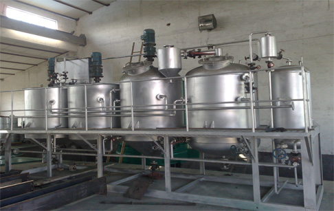Small scale oil refining plant