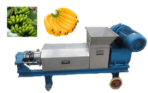 Bananas and banana trees dewatering machine