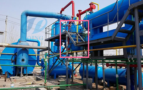Tire to diesel fuel recycling pyrolysis plant​