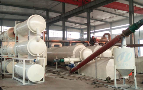 Continuous used tire process pyrolysis equipment technology