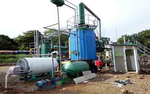 Waste plastic to diesel process plant
