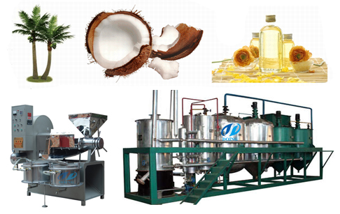 1-10T/D coconut oil mill plant
