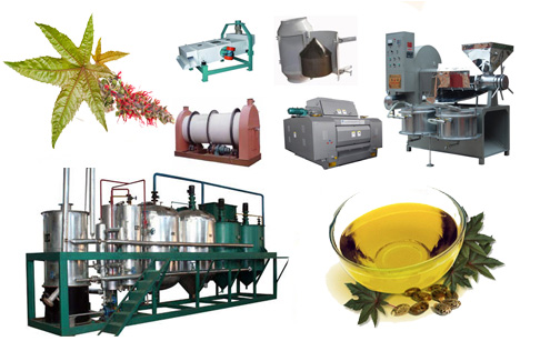 Complete castor oil mill machinery