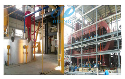 Rice bran extrusion processing section