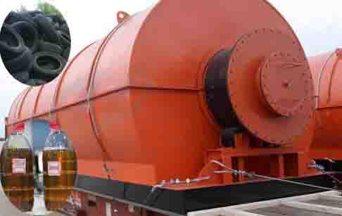 What is the process of pyrolysis oil extraction?