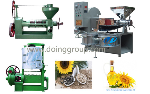 three stypes of sunflower oil making machine