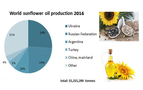 Sunflower oil producting market