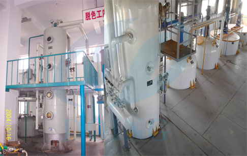 Sunflower oil refining plant-decoloration process