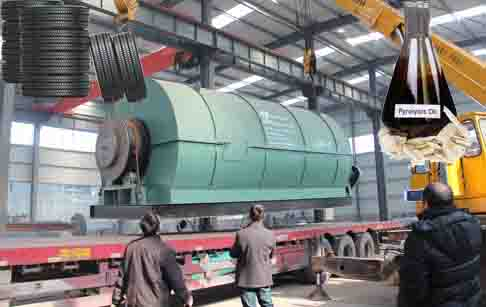 Tire derived fuel recycling pyrolysis plant