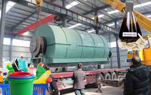 Waste plastic to fuel conversion process plant