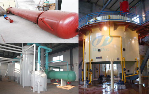 Evaporation system of cooking oil solvent extraction plant