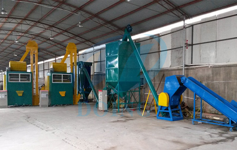 Circuit board recycling machine in customer's factory