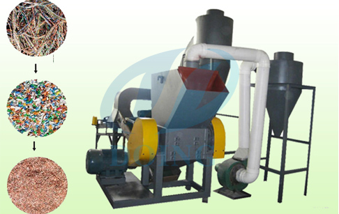 Copper wire recycling machine /cable granulator  is rununing