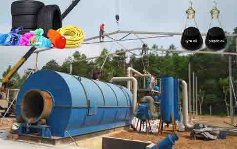 How to set up tire/plastic to oil pyrolysis plant project?