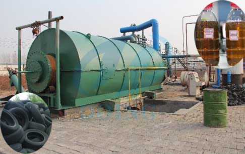 What is the best waste tyre to fuel oil  pyrolysis plant ?